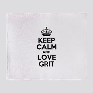 Keep Calm and Love GRIT Throw Blanket