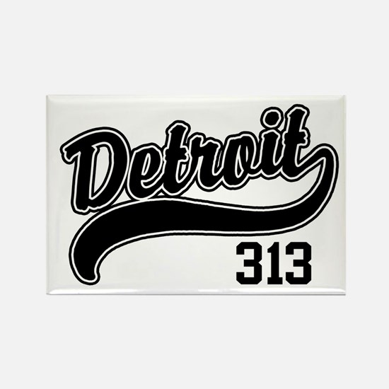 Detroit 313 Rectangle Magnet
