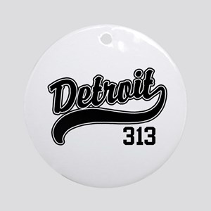 Detroit 313 Ornament (Round)