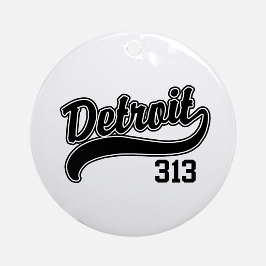 Detroit 313 Ornament (Round)