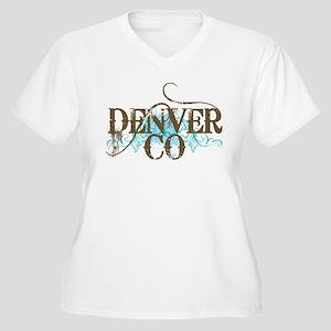 Denver Grunge Women's Plus Size V-Neck T-Shirt