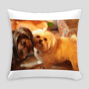Kona and Koko dogs at play Everyday Pillow