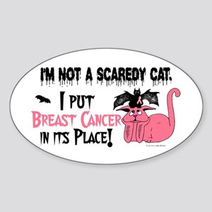 Halloween For Awareness BC 4 Oval Sticker