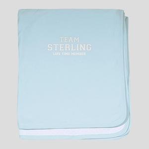 Team STERLING, life time member baby blanket