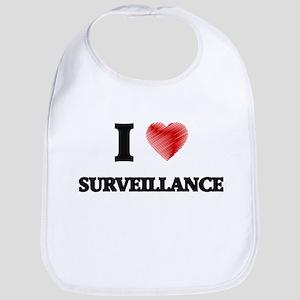 I love Surveillance Bib
