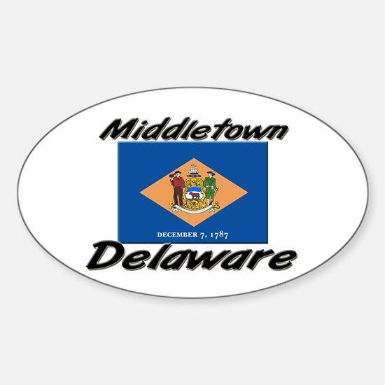 Middletown Delaware Oval Decal