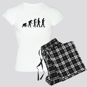 evolution of man walking with smartphone Pajamas