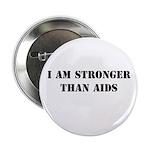 I am Stronger than AIDS Button