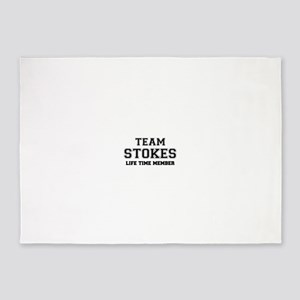 Team STOKES, life time member 5'x7'Area Rug