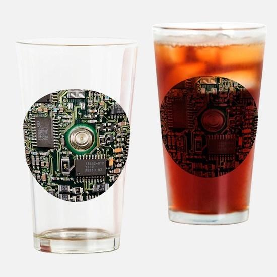 Cute Circuit board Drinking Glass