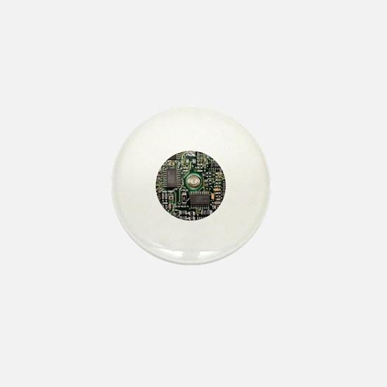 Unique Circuit board Mini Button