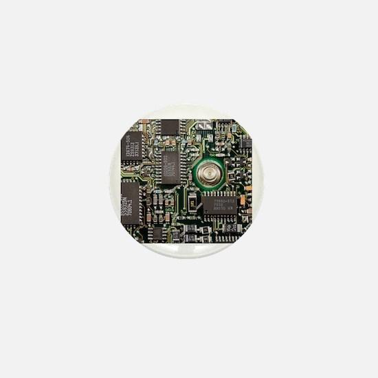 Cute Circuit board Mini Button