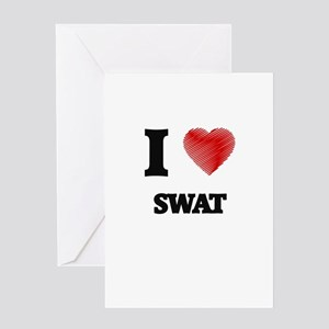 I love Swat Greeting Cards