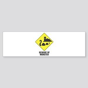 Beware of the Loch Ness Monster Bumper Sticker