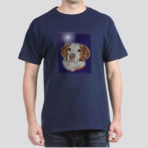 Brittany Spaniel Xmas Star Dark T-Shirt