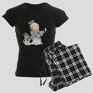 Cute Christmas Baby Angel And Cat Pajamas