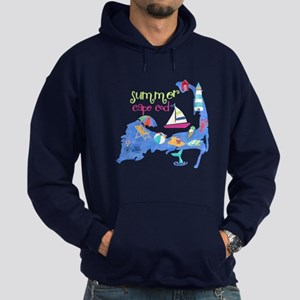 Cute Cape Cod Map Hoodie (dark)