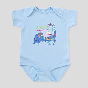 Cute Cape Cod Map Infant Bodysuit