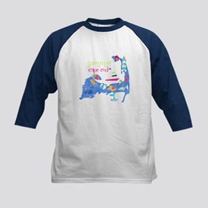 Cute Cape Cod Map Kids Baseball Jersey