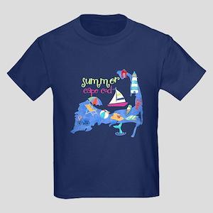 Cute Cape Cod Map Kids Dark T-Shirt