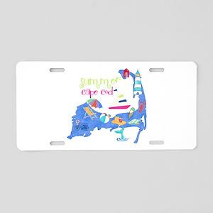 Cute Cape Cod Map Aluminum License Plate