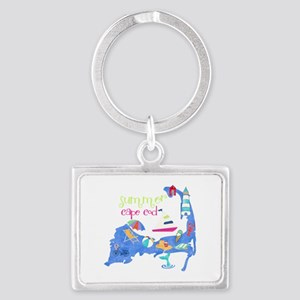Cute Cape Cod Map Landscape Keychain
