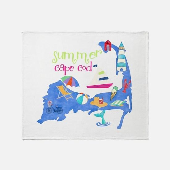 Cute Cape Cod Map Throw Blanket