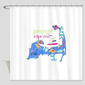Cute Cape Cod Map Shower Curtain