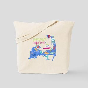 Cute Cape Cod Map Tote Bag