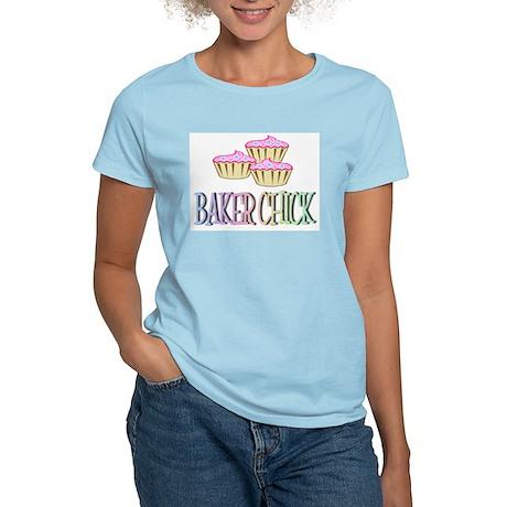 BAKER CHICK PINK CUPCAKE Women's Light T-Shirt