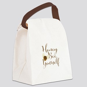 Honey Bee Yourself. Cute Bee. Canvas Lunch Bag