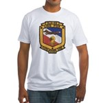 USS FOX Fitted T-Shirt