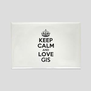Keep Calm and Love GIS Magnets