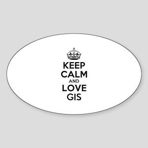 Keep Calm and Love GIS Sticker