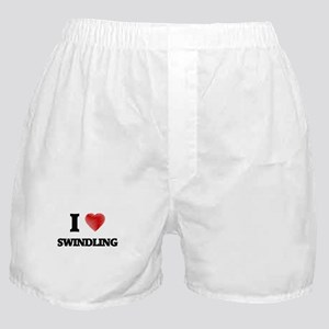 I love Swindling Boxer Shorts