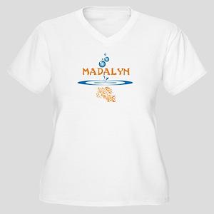 Madalyn (fish) Women's Plus Size V-Neck T-Shirt