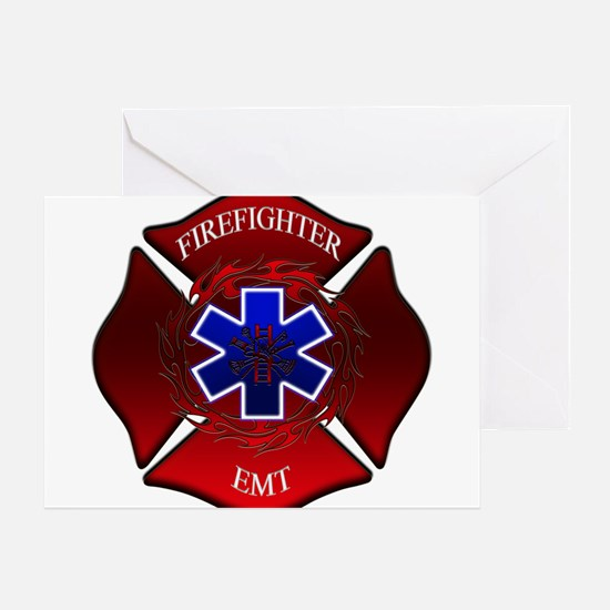 FIREFIGHTER-EMT Greeting Cards