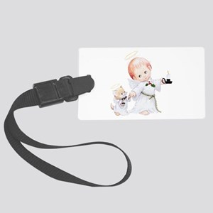 Cute Christmas Baby Angel And Large Luggage Tag