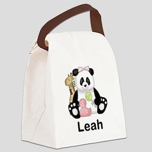 Leah's Little Panda Canvas Lunch Bag