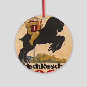Vintage poster - Feldschlosschen Bo Round Ornament