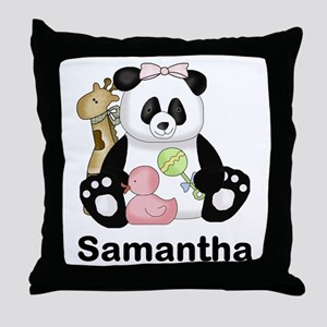 Samantha's Little Panda Throw Pillow
