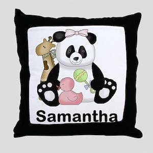 Samantha's Little Panda Throw Pillow