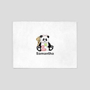 Samantha's Little Panda 5'x7'Area Rug