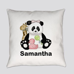 Samantha's Little Panda Everyday Pillow