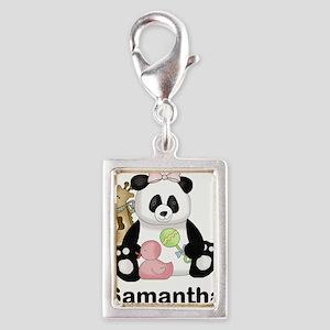 Samantha's Little Panda Silver Portrait Charm