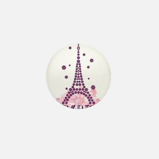Flower Eiffel 01 Mini Button