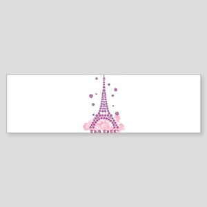 Flower Eiffel 03 Bumper Sticker