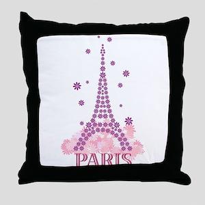 Flower Eiffel 03 Throw Pillow