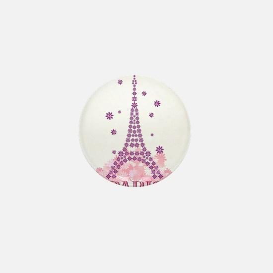 Flower Eiffel 03 Mini Button