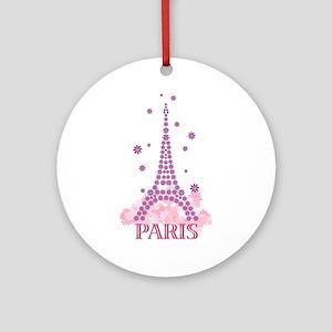 Flower Eiffel 03 Ornament (Round)